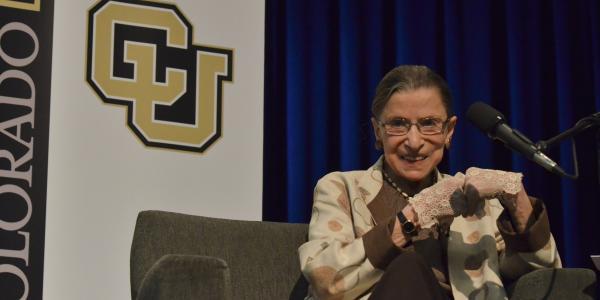 Ruth Bader Ginsburg at CU Boulder