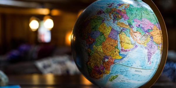 world globe on desk