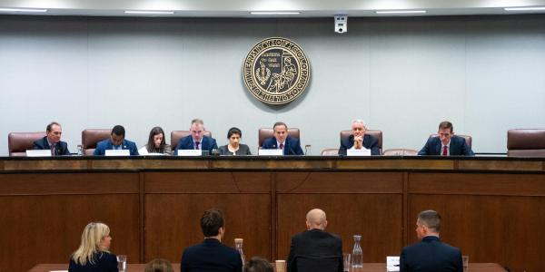 The House Subcommittee on Antitrust hears from company executives during a field hearing at CU Boulder.