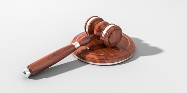 Stock image of a gavel