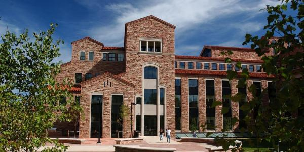 Photo of Colorado Law's Wolf Law building