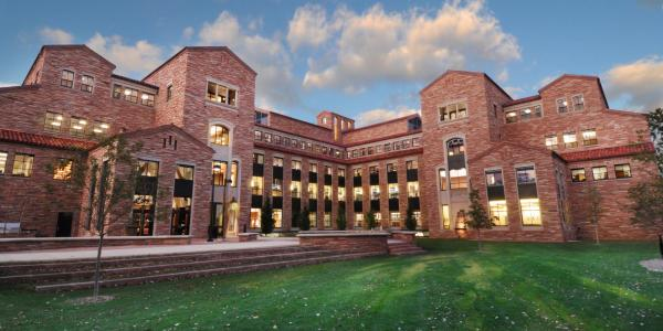 A composite photo of the University of Colorado Law School.