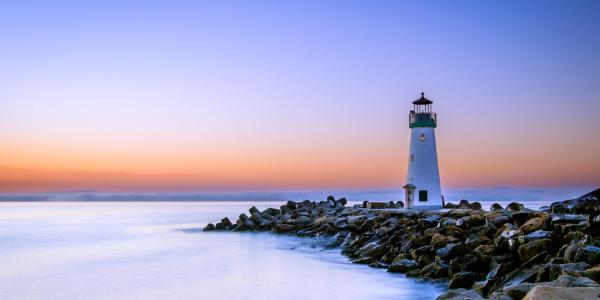 A stock image of a lighthouse