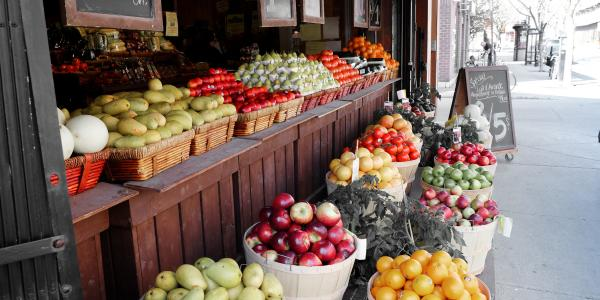 Street market sells locally-grown produce