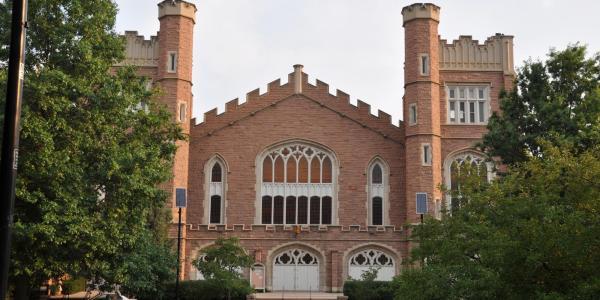Macky Auditorium on campus