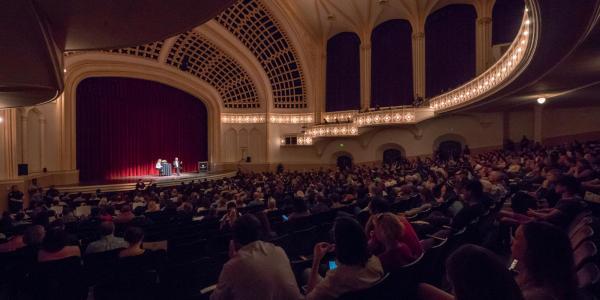 Macky Auditorium full house