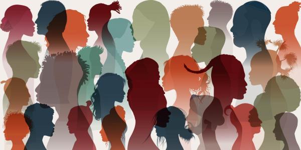 An illustration of silhouettes symbolizing diversity