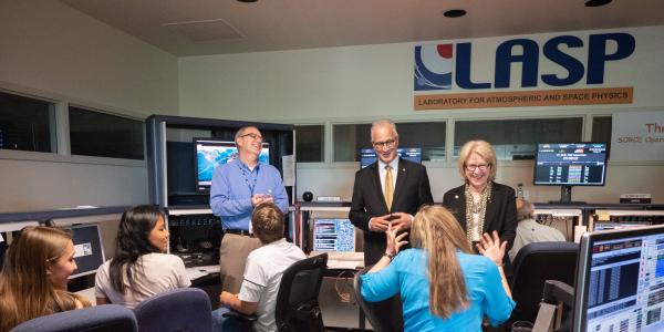 CU President Mark Kennedy visits LASP