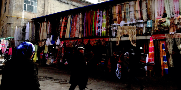 A Uighur market seen in China