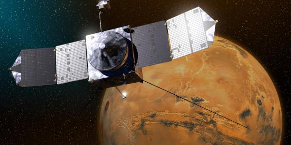 Mars Maven mission water escape