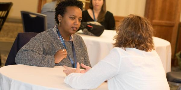Attendees participating in the #SciWriMentoring session at the recently concluded conference at Penn State