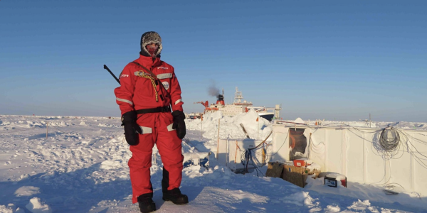 Arctic researchers with the Mosaic expedition