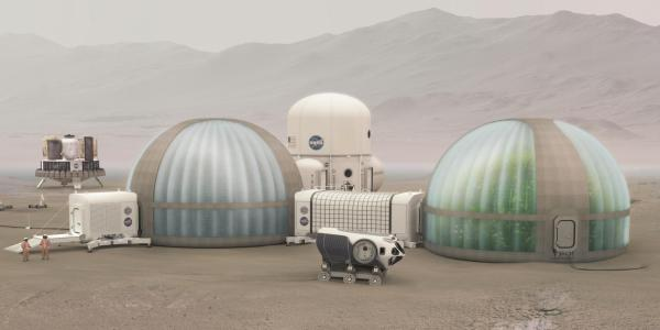 Rendering of greenhouse on Mars