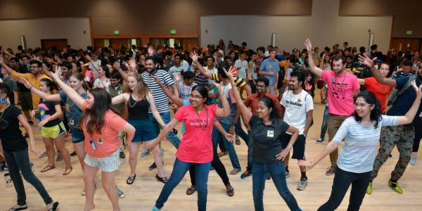 New students dance at the annual CU Carnivale