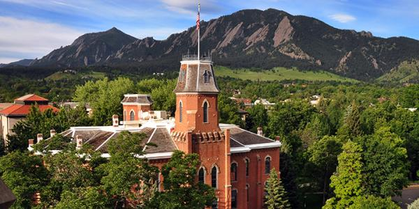 Old Main against the Flatirons