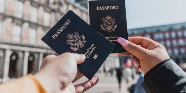 People holding U.S. passports