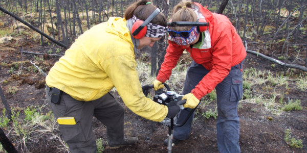 Researchers drilling into Alaskan permafrost