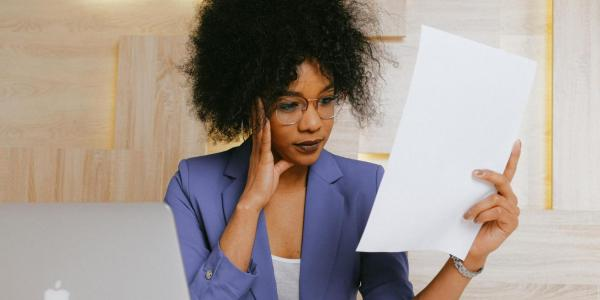 person preparing for interview