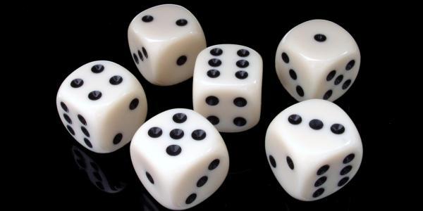 A set of six dice
