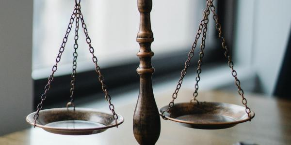 Stock image of scales of justice