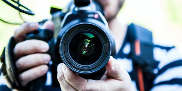 A person using a camera