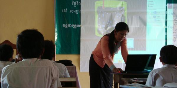 PhET program being used in Cambodia