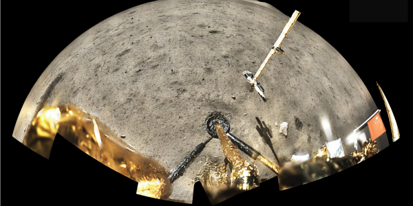 Image of the Chang'e 5 landing site taken from below the lander