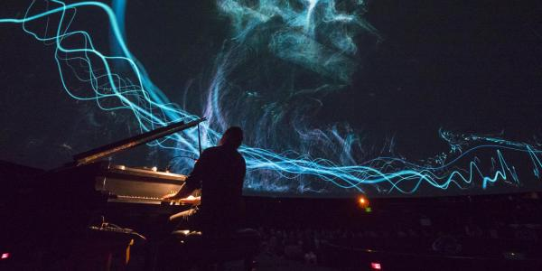 Live performance and laser show at Fiske Planetarium