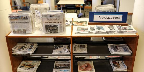 A collection of newspapers at the University Libraries