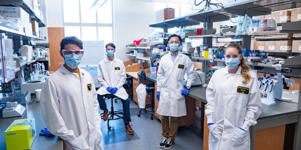 CU researchers in the lab