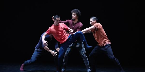 RUBBERBANDance performs on stage