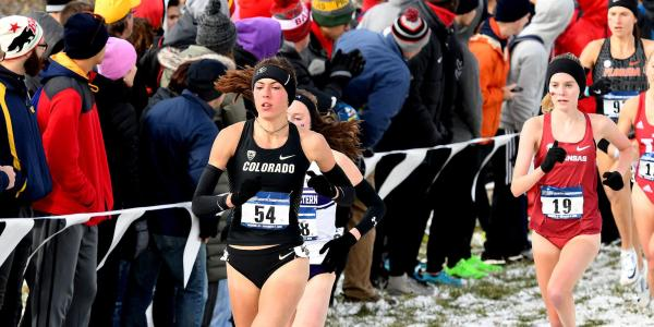 Sage Hurta running in race