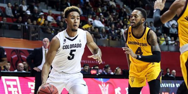 Colorado men's basketball in China playing Arizona State