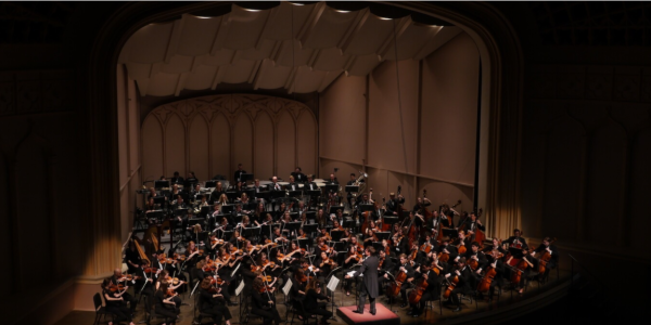 The CU Symphony Orchestra on stage