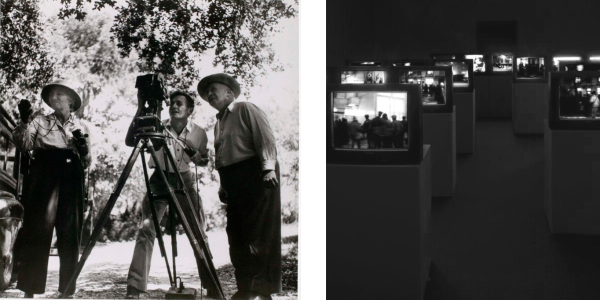 A collage of film images