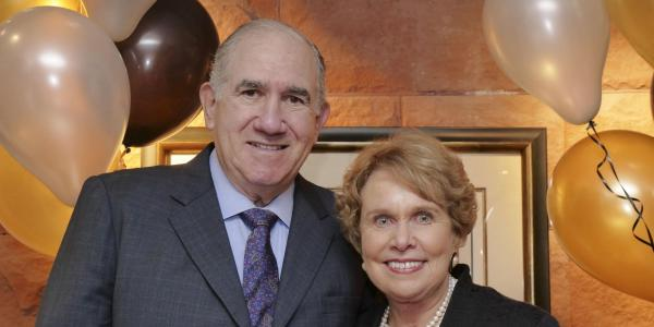 College of Music Dean Emeritus Dan Sher, left, and his wife, Boyce Reid Sher