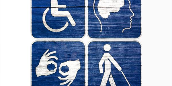 Signs regarding accessibility issues