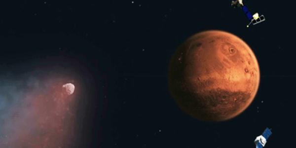 Siding spring and satellites