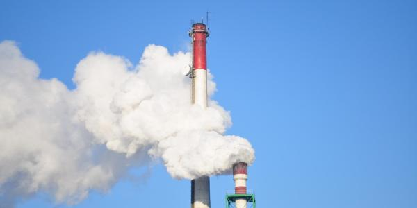 Stock image of a smokestack