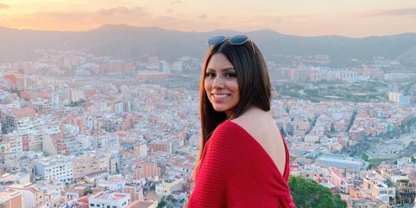 Karen Herrera overlooking Barcelona