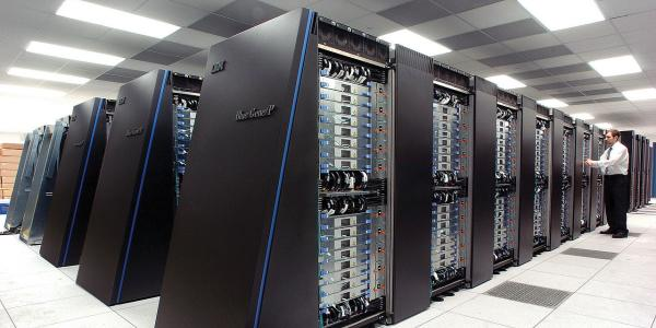 Stock photo of a supercomputer