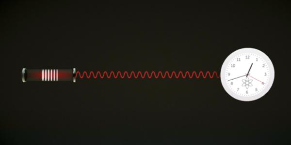 an illustration depicting a superradiant laser