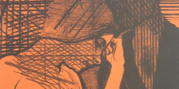 Sleeping Fires by Ronald B. Kitaj, part of The Artist's Gesture exhibit