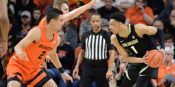 Colorado men's basketball versus Oregon State