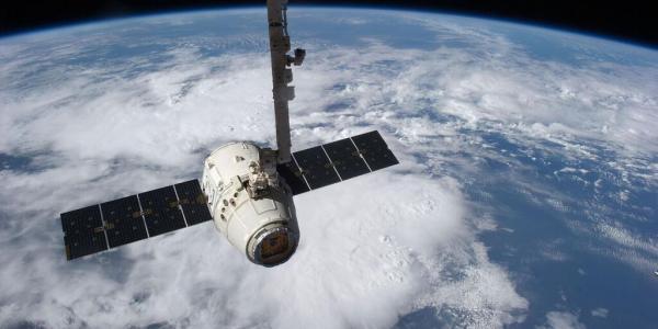 SpaceX Dragon capsule.