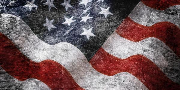 Close-up of United States flag
