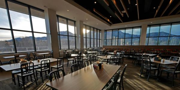 Village Center Dining and Community Commons west dining hall