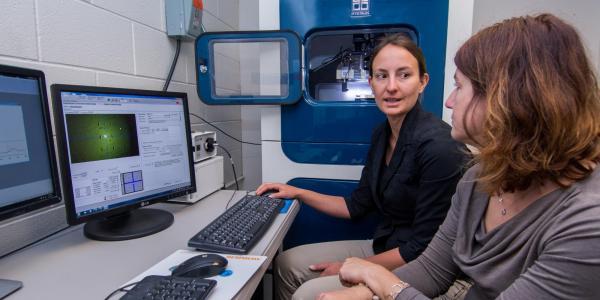 People work in Virginia Ferguson Lab on campus