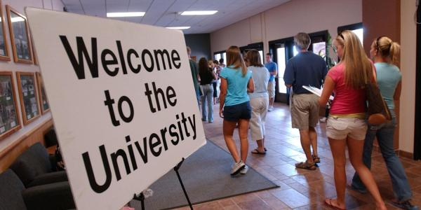 New employees tour campus during New Employee Welcome Experience full-day orientation