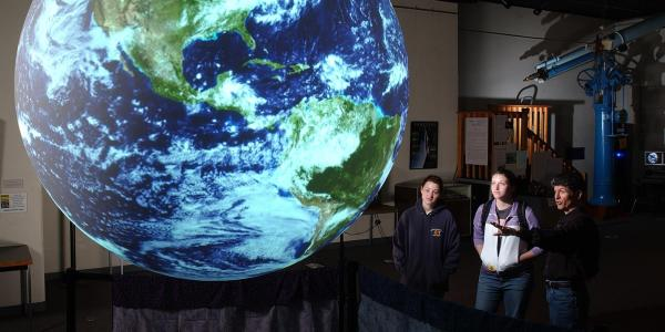 Science on a Sphere event at Fiske Planetarium